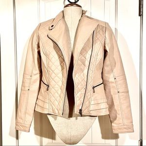 REITMANS Quilted Vegan Faux Leather Moto Jacket